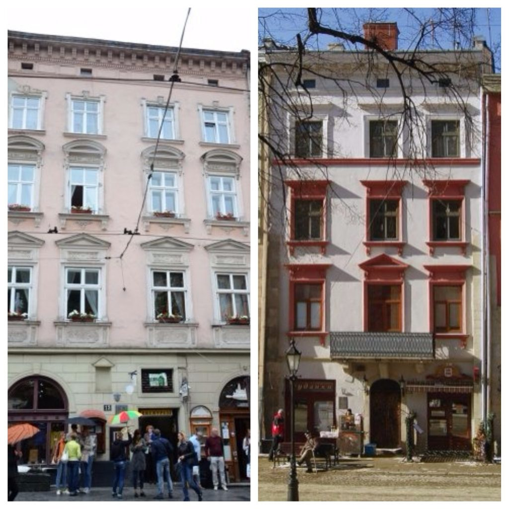 ... на початку ХХ ст. зробив обмірні креслення)  1916 року став автором  проекту вітрини для будинку №27 на площі Ринок (колишня кам яниця  Фаурбахівська). bfcd5b9d7930f